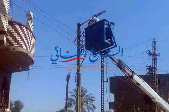 aljornal.com - الجورنال - تركيب 20كشاف ليد بالحمودي – الشارع القنائي