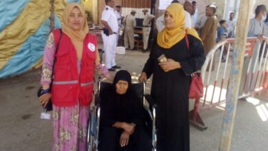 """Photo of """"الهلال الأحمر"""" يحث الناخبين على إرتداء الكمامة في الوقف"""