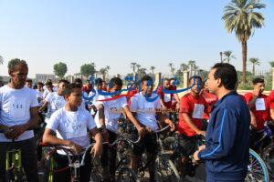 aljornal.com - الجورنال - انطلاق مارثون الدراجات الهوائية من ساحة معبد دندرة بقنا – الشارع القنائي