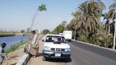 "Photo of ""محلي الجبلاو"" يزرع 1600 شجرة بطرق القرية"