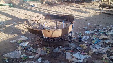 """Photo of صور..حديقة """"سوزان مبارك"""" في نجع حمادي تتحول إلى ملاذ لمدمني المخدرات بعد إغلاقها"""