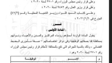 Photo of تعرف على حاملي صفة مأمور الضبط القضائي بمحافظة قنا