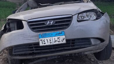 Photo of بالأسماء.. إصابة زوجين إثر انقلاب سيارة ملاكي بنجع حمادي