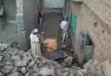 Photo of انهيار منزل من طابقين في زلتيم بنجع حمادي