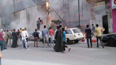 Photo of عاجل  بالصور ..اشتعال النيران أمام واجهة قاعة أفراح في مدينة قنا