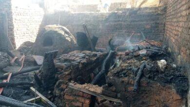 """Photo of السيطرة على حريق في 3 أحواش بـ""""العوامر الغربية"""" في أبوتشت"""